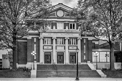 Photograph - The Sheldon Concert Hall Bnw 7r2_dsc3020_11242017 by Greg Kluempers