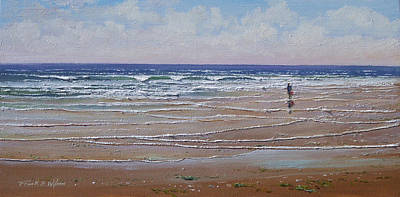Painting - The Shell Collector by Frank Wilson