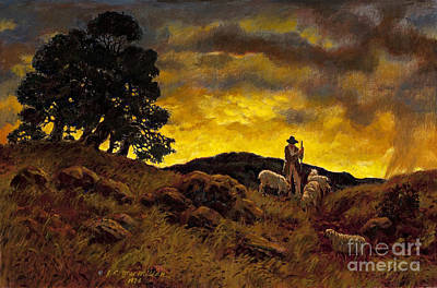 The Shepherd Art Print by James Robert MacMillan