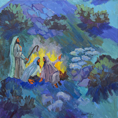 Painting - The Shepherds by Diane McClary