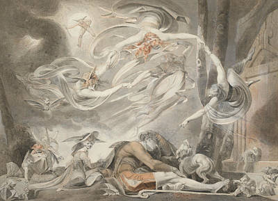Swiss Drawing - The Shepherd's Dream by Henry Fuseli