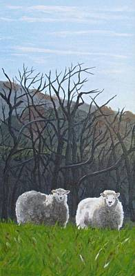 Painting - The Shepherd's Sheep by Barb Pennypacker