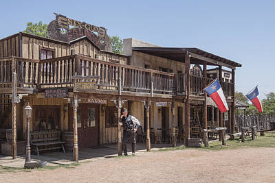 The Sheriff In Town At The Enchanted Springs Ranch And Old West Theme Park Art Print