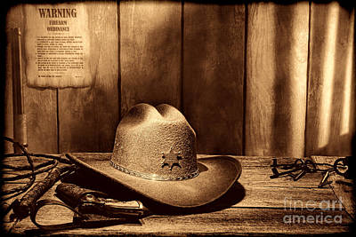 Photograph - The Sheriff Office by American West Legend By Olivier Le Queinec