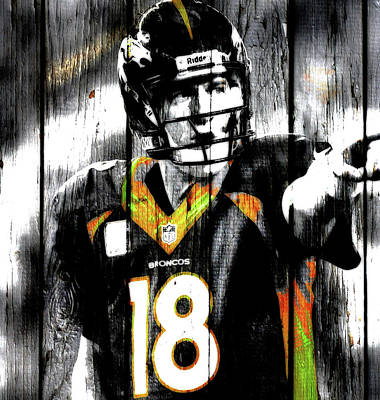 Mixed Media - The Sheriff Peyton Manning 1j by Brian Reaves