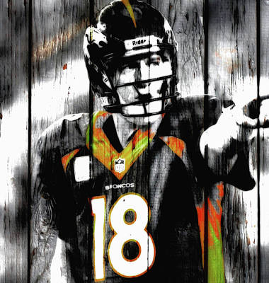 Newton Mixed Media - Peyton Manning Last Rodeo by Brian Reaves