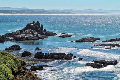 Photograph - The Shimmering Blue Pacific Off Oregon Coast by Kirsten Giving