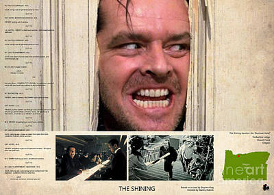 Novel Painting - The Shining Film Location And Script, Stepehn King Novel by Pablo Franchi