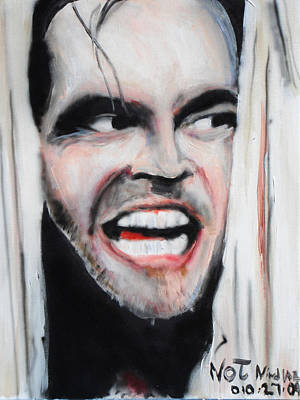 Jack Nicholson Painting - The Shining by Jon Baldwin  Art