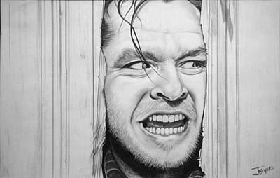 Jack Nicholson Drawing - The Shining by Justin Boysko