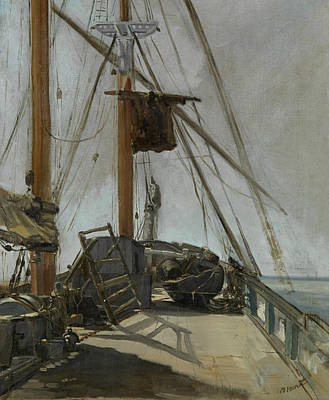 Painting - The Ship's Deck by Edouard Manet
