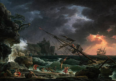 Painting - The Shipwreck by Claude-Joseph Vernet