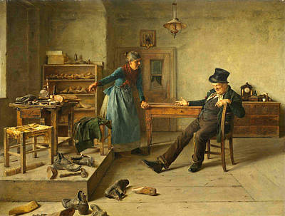 Shoemaker Painting - The Shoemaker by Isidor Kaufmann