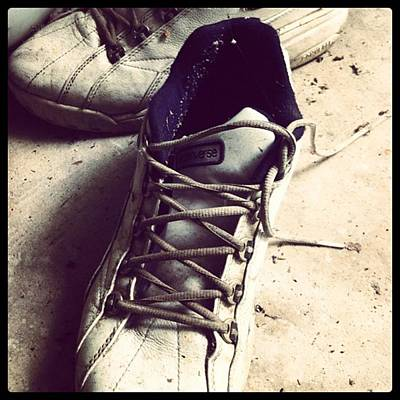 Sports Photograph - The Shoes He Left Behind by Dana Coplin