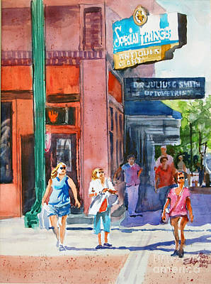 Painting - The Shoppers by Ron Stephens