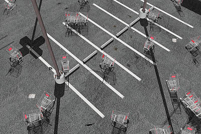 Digital Art - The Shopping Cart Fiasco by Peter J Sucy