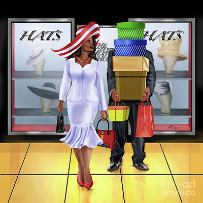 Painting - The Shopping Spree In Style by Reggie Duffie