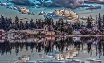 Digital Art - The Shore by Timothy Latta
