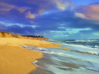 The Shoreline At Half Moon Bay Art Print