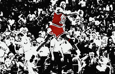 Mj Mixed Media - The Shot by Brian Reaves
