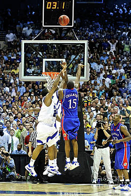Larry Bird Photograph - The Shot, 3.1 Seconds, Mario Chalmers Magic, Kansas Basketball 2008 Ncaa Championship by Thomas Pollart