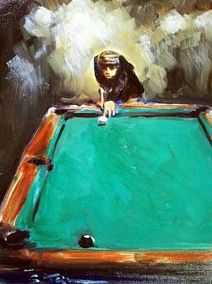Billiards Paintings Fine Art America - Pool table painting