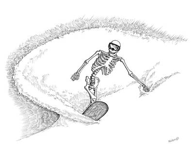 The Shred Never Dies.  Art Print