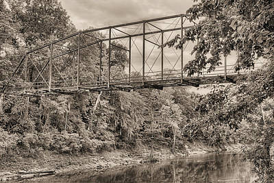 Photograph - The Shubuta Bridge by JC Findley