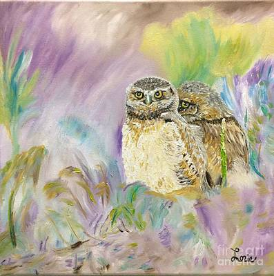 The Shy Owl Art Print by Lorie Smith