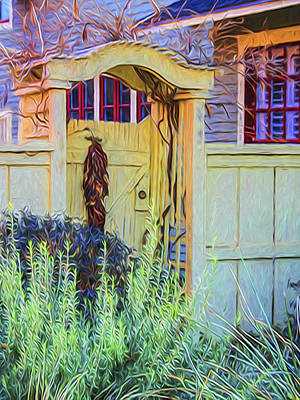 Ristra Digital Art - The Side Gate by Mary Marczak