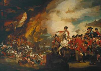 Painting - The Siege And Relief Of Gibraltar 1783 by Copley John Singleton