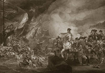 Reliefs Drawing - The Siege And Relief Of Gibraltar by John Singleton Copley
