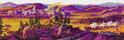 Painting - The Siege Of Fort William Henry 1757 by Ron Embleton