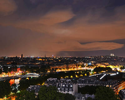 Photograph - The Siene River At Night Paris France by Toby McGuire