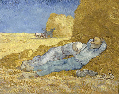 The Siesta, After Millet, 1890 Art Print