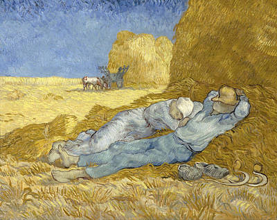 Farming Painting - The Siesta, After Millet by Vincent van Gogh