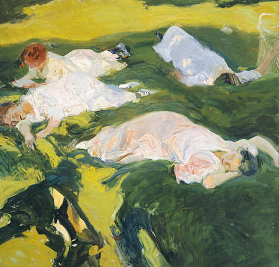 Nap Painting - The Siesta by Joaquin Sorolla y Bastida