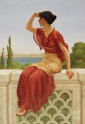 Escher Painting - The Signal By John William Godward  by Esoterica Art Agency