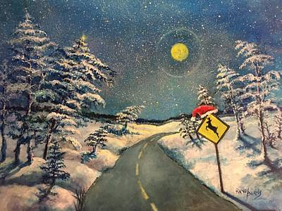 Painting - The Signs Of Christmas by Randol Burns
