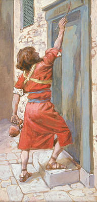 Painting - The Signs On The Door by James Tissot