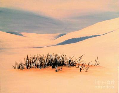 Climate Change Painting - The Silence Of Snow Desert by Olga Zavgorodnya
