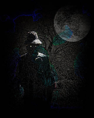 Haunted Digital Art - The Silencer by Mimulux patricia no No