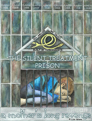 Mixed Media - The Silent Treatment Is Abuse by Lise Winne