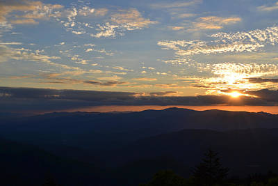 Photograph - The Silhouetting Great Smoky Mountains by rd Erickson