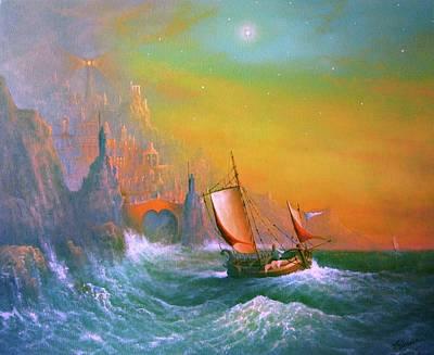 Silmarillion Painting - The Silmarillion Voyage Of Earendil by Joe Gilronan