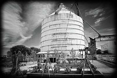 Photograph - The Silos At Magnolia Market In Black And White by Lynn Bauer