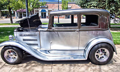Photograph - The Silver Classic Automobile by Thom Zehrfeld