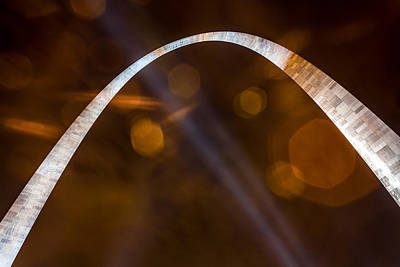 Photograph - The Silver Gateway Arch by Semmick Photo