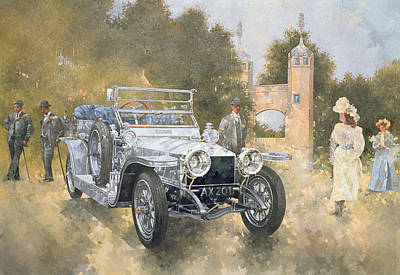 Transportation Painting - The Silver Ghost by Peter Miller