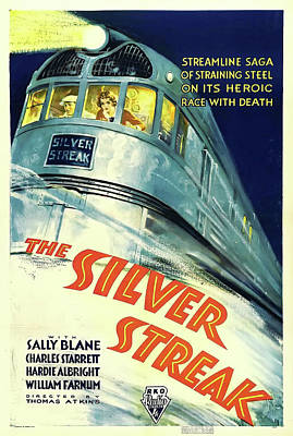 Artistic Expression Mixed Media - The Silver Streak 1934 by R K O